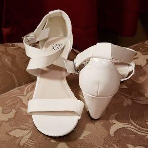 NY&Co cross straps wedge heel sandals